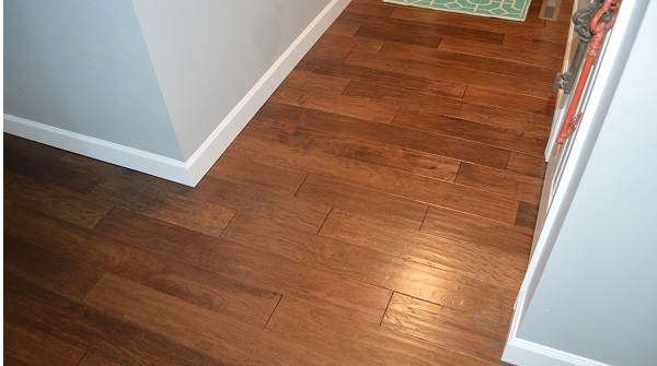 How to protect wood floor entryway