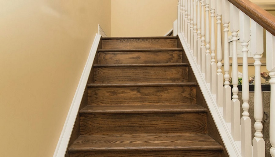 Carpet stair treads for hardwood floors
