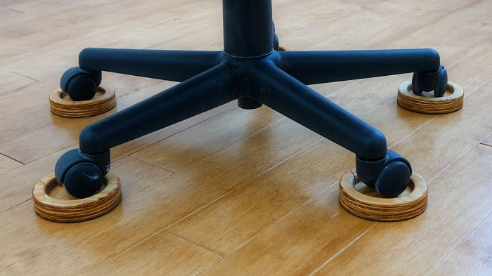 How do you protect hardwood floors from casters